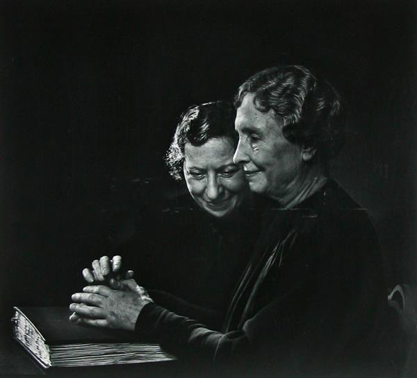 Helen Keller, with Polly Thompson