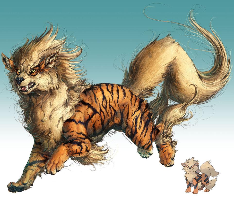 realistic_pokemon_sketches__arcanine_by_nauvasca-d6rzwin