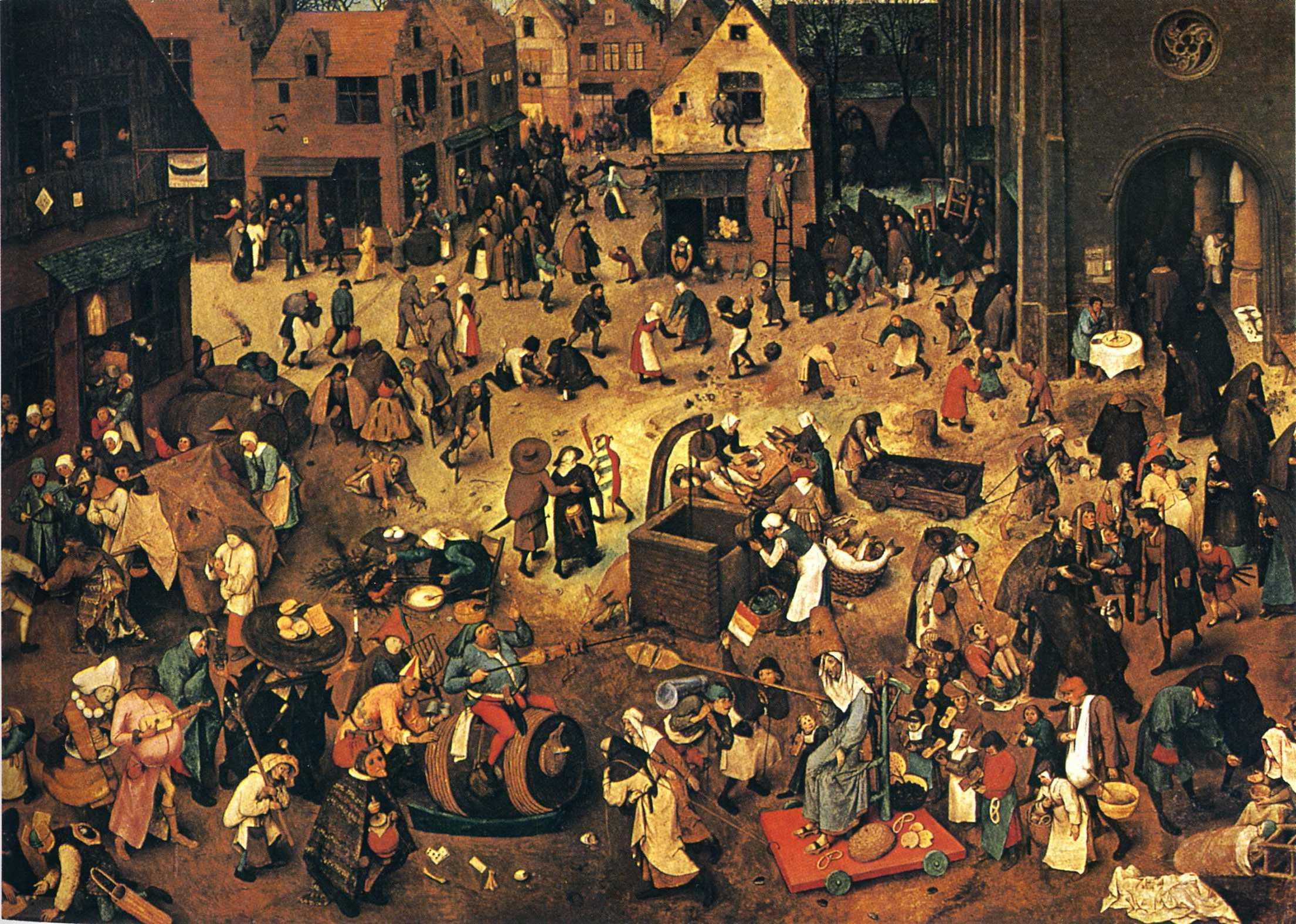 Karnaval ve Perhiz Arasındaki Savaş, Pieter Bruegel, 1559.