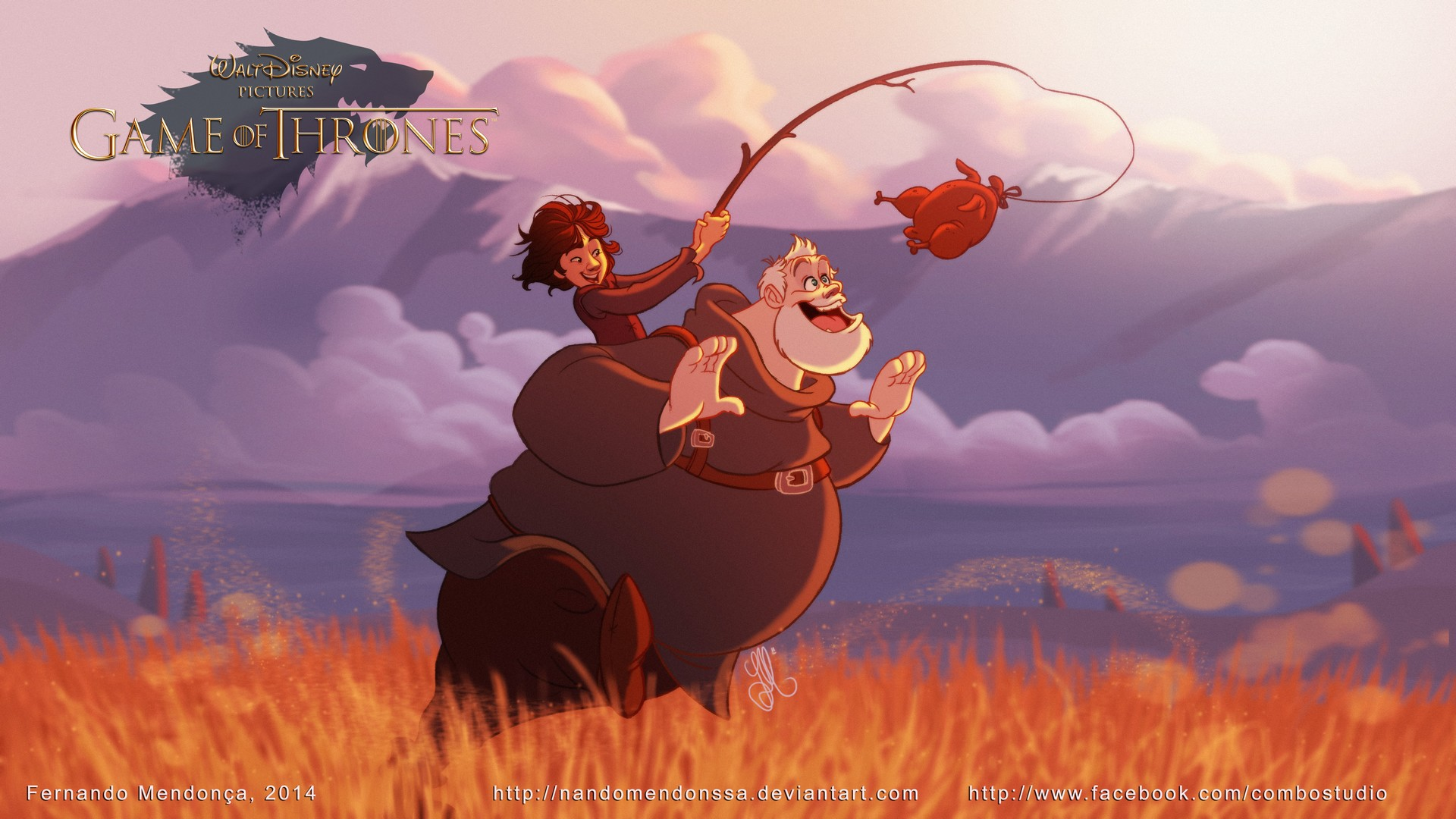 Game of Thrones Disney Bran and Hodor