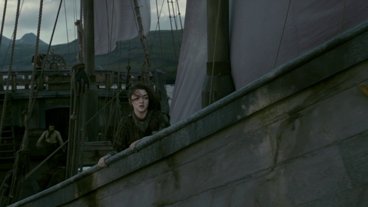 Game of Thrones S04E10 Arya Ship