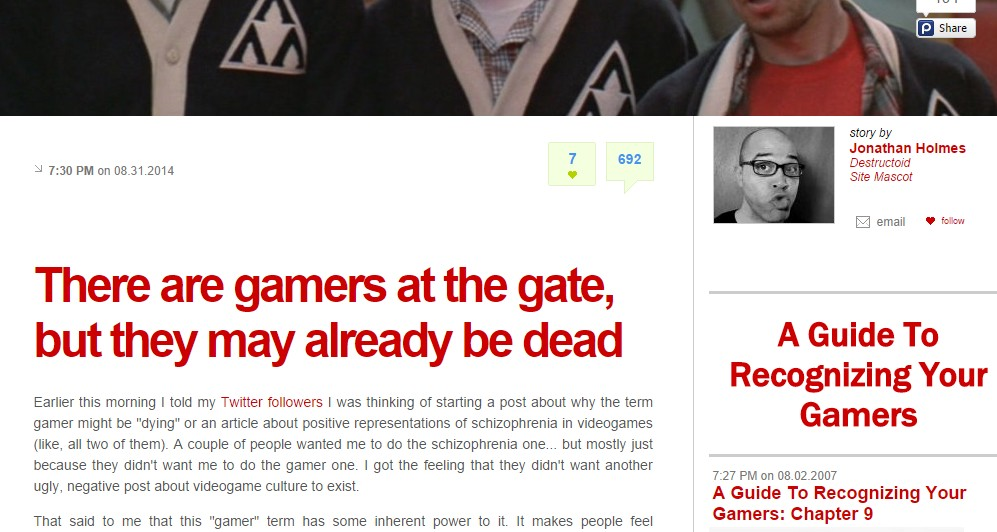 Destructoid Gamer Dead