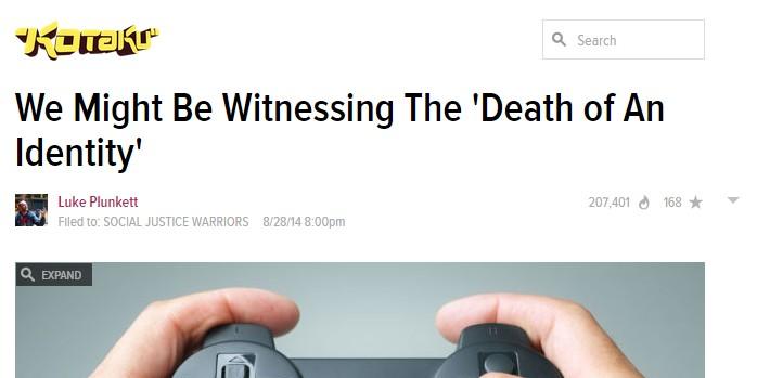 Kotaku Gamer Dead