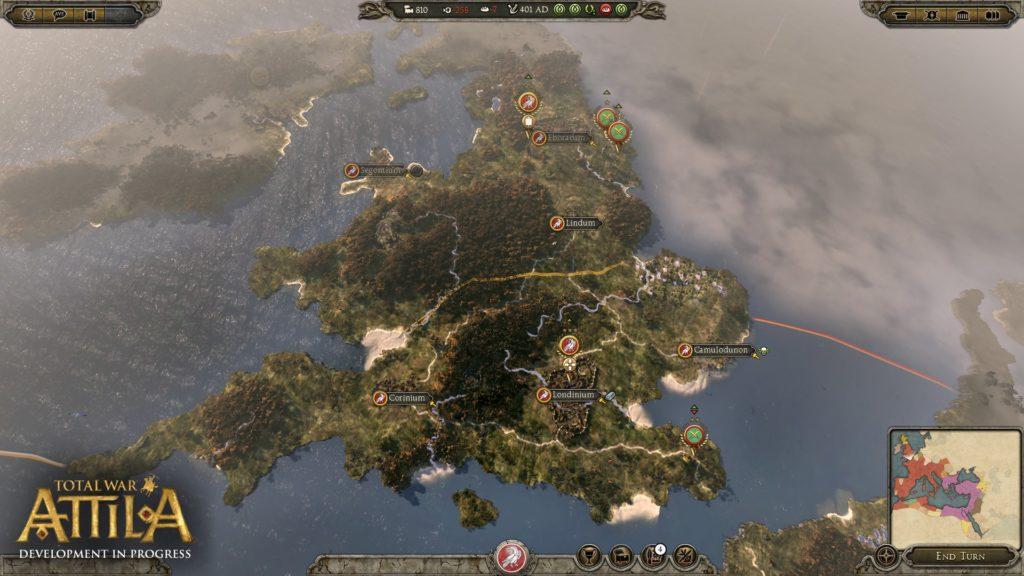 Total War ATTILA Campaign Brittania