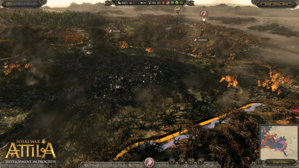 Total War ATTILA Campaign Destruction