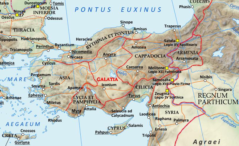 Anadolu'daki lejyon üsleri.
