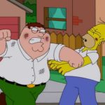 Family Guy S13E01 Homer Peter Fight