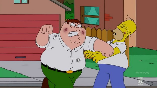 Family Guy S13E01 Homer Peter Fight 2