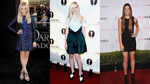 Soldan Sağa: Chloe Grace Moretz, Elle Fanning, Hailee Steinfeld