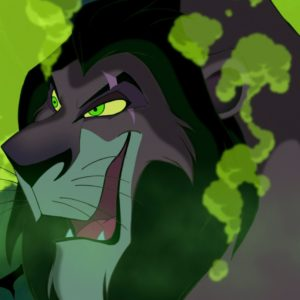 DISNEY VILLAINS SCAR MANSET