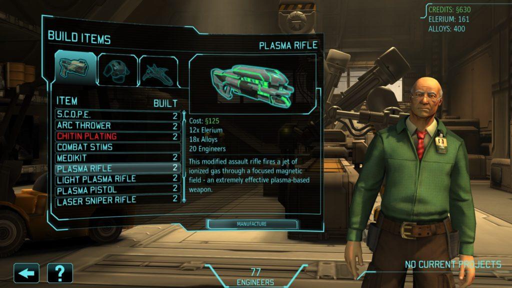 XCOM Enemy Unknown engineering