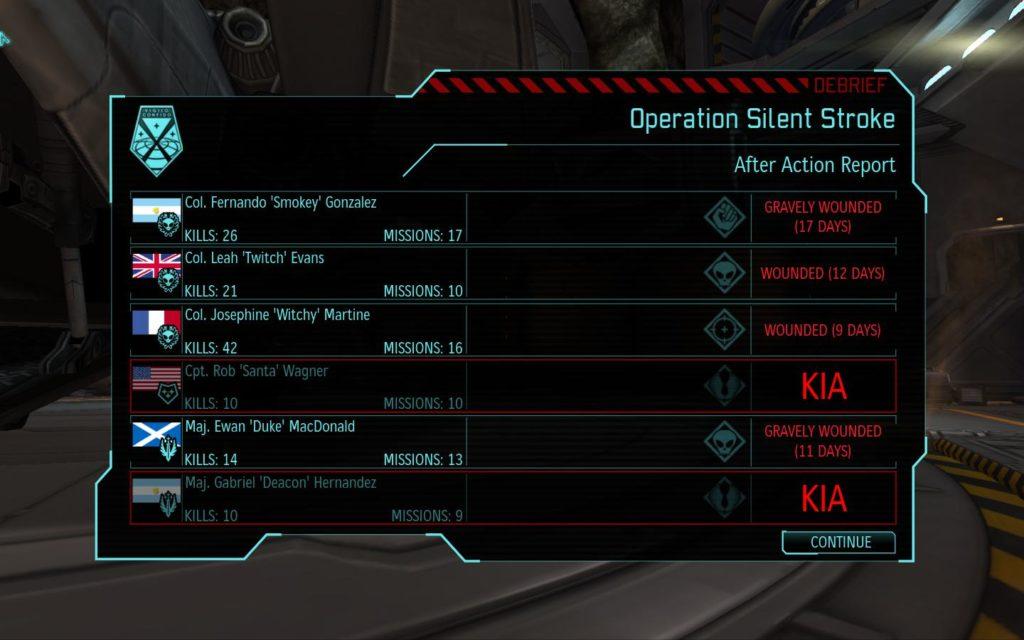 XCOM Enemy Unknown mission end