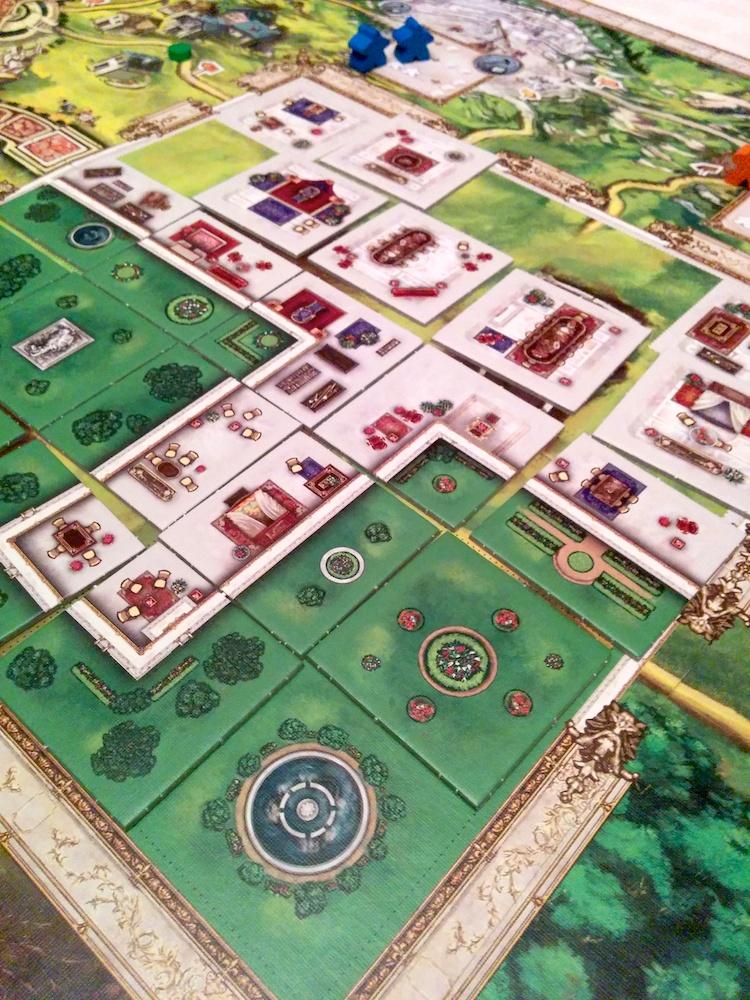Oyun sonudaki saray + bahçemiz.