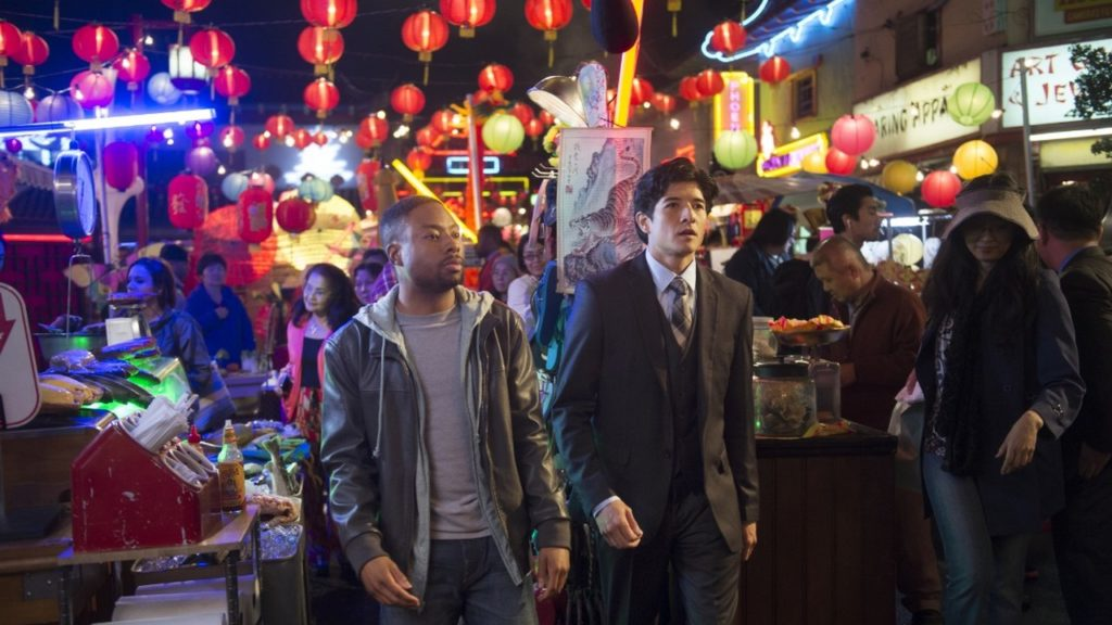 RUSH HOUR, a reimagining of the hit feature film franchise, is CBS's new buddy-cop drama about maverick LAPD detective Carter (Justin Hires, left) and by-the-book Hong Kong detective and master martial artist Lee (Jon Foo), who knock heads when they are forced to partner together in Los Angeles. Photo: Neil Jacobs/CBS ©2015 CBS Broadcasting, Inc. All Rights Reserved