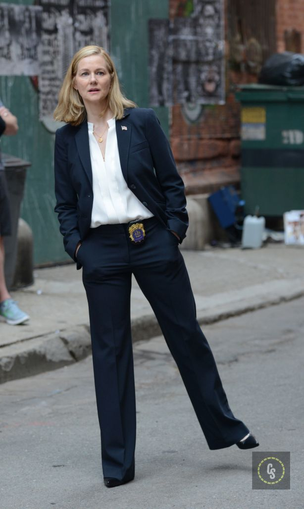 'Teenage Mutant Ninja Turtles 2' movie set Featuring: Laura Linney Where: Manhattan, New York, United States When: 12 May 2015 Credit: TNYF/WENN.com