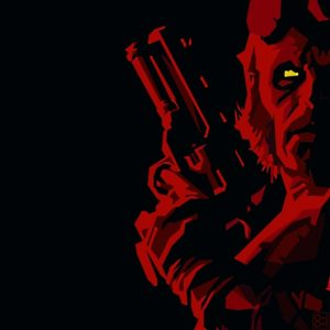 hellboy_black_background_comics_yellow_eyes_wallpaper-1641