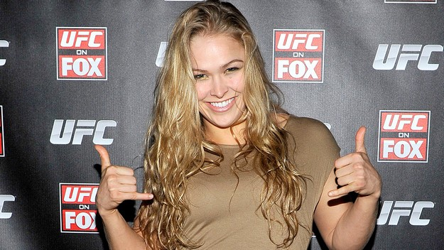 NEW YORK, NY - MAY 03: Ronda Rousey attends UFC On FOX VIP Party at Mondrian Soho on May 3, 2012 in New York City. (Photo by Michael N. Todaro/WireImage)