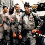 1984 --- Harold Ramis, Ernie Hudson, Bill Murray and Dan Aykroyd in the movie Ghostbusters. --- Image by © CinemaPhoto/Corbis