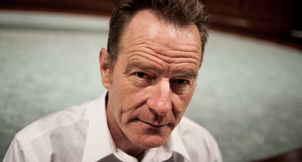 """CAMBRIDGE, MA - AUGUST 27: Actor Bryan Cranston at the American Repertory Theatre in Cambridge. Cranston is currently in rehearsal for his upcoming stage appearance in Robert Schenkkan's new play, """"All the Way."""" (Photo by Colm O'Molloy for The Boston Globe via Getty Images)"""