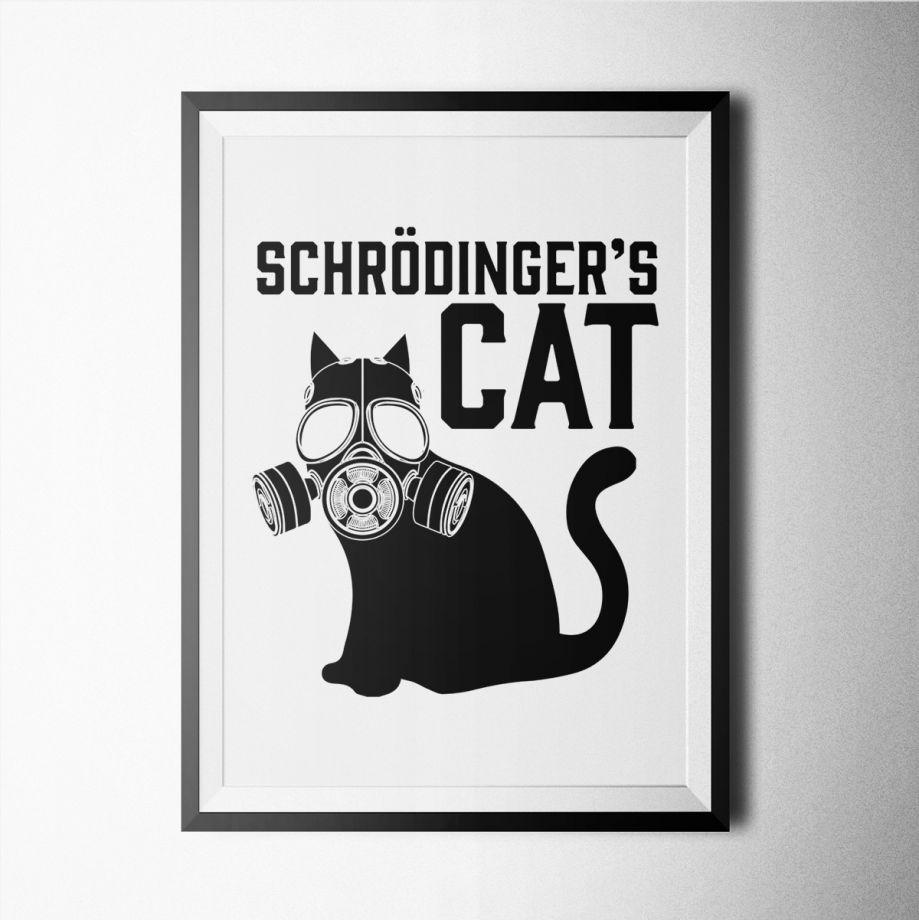 Schrodinger Kedi Bilim Poster