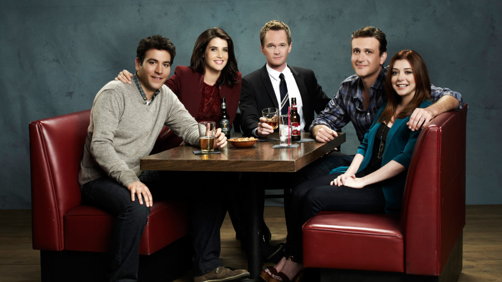 HOW I MET YOUR MOTHER -- Season 8 -- Pictured (L-R): Josh Radnor as Ted Mosby, Cobie Smulders as Robin Scherbatsky, Neil Patrick Harris as Barney Stinson, Jason Segel as Marshall Eriksen and Alyson Hannigan as Lily Aldrin -- © 20th Century Fox Television