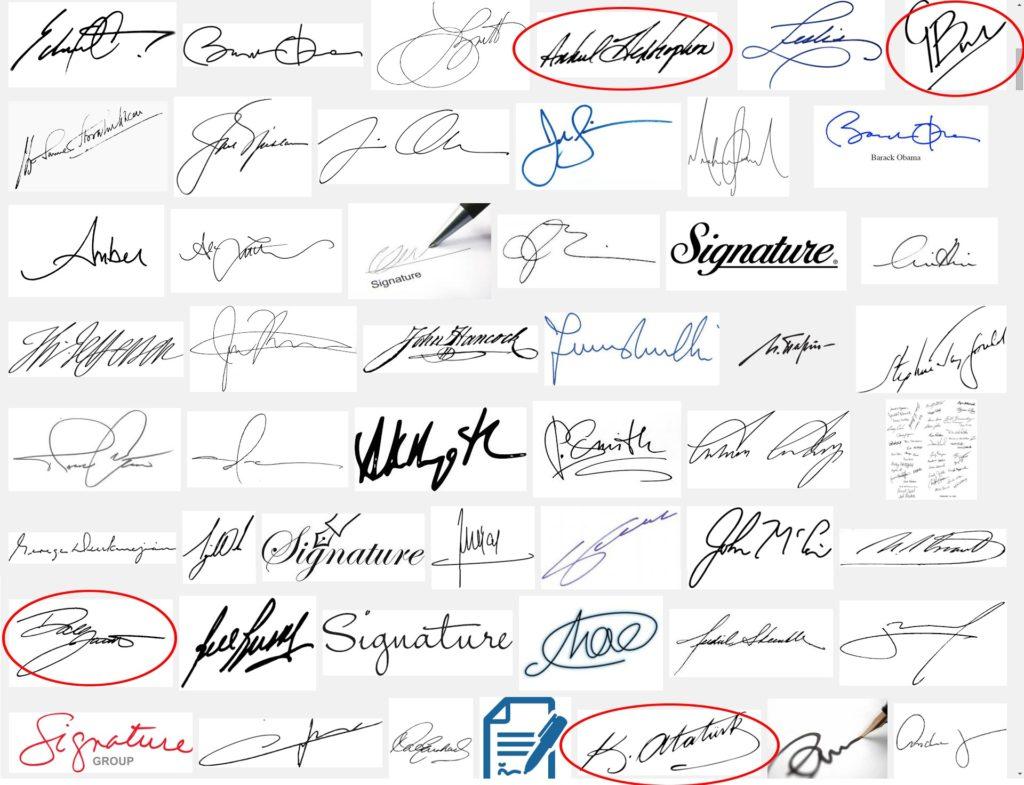 Topun Üzerindeki İmzalar