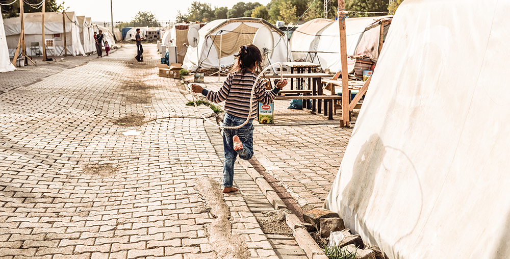 In August 2014, ISIS attacked Yazidis' Shingal mountain, massacring 5,000 persons. More tan 50,000 Yazidis fled the region. Fidarlike Camp (Diyarbakir) hosts 3,000 Yazidis who fled Shingal in Iraq. 11 September 2015. Turkey. NATALIA SANCHA