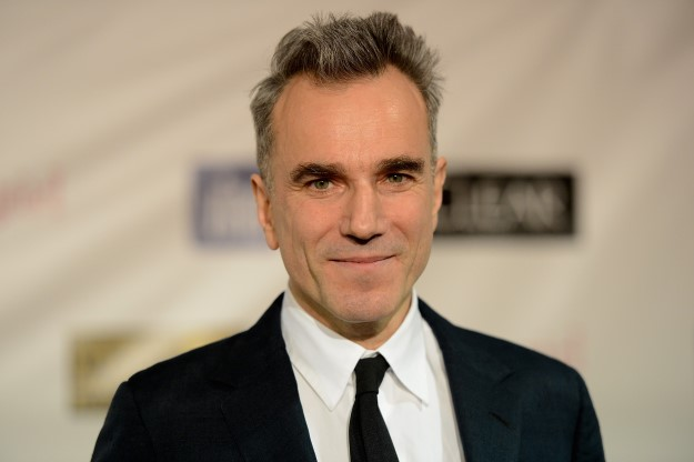 "SANTA MONICA, CA - JANUARY 10:  Actor Daniel Day-Lewis, winner of Best Actor for ""Lincoln,"" poses in the press room at the 18th Annual Critics' Choice Movie Awards held at Barker Hangar on January 10, 2013 in Santa Monica, California.  (Photo by Jason Merritt/Getty Images)"