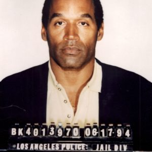 Jun 16, 1994 - Los Angeles, CA, USA - OJ SIMPSON's mug shot from Los Angeles in 1994. Simpson turned himself in to Florida Police today, posting a ,000 bond on charges of 2nd degree felony theft & misdemeanor 1st degree battery stemming from a reported 'road rage' incident in December. (Credit Image: © LAPD/ZUMA Archive/ZUMA Press)