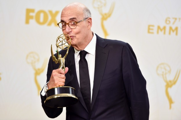 """Jeffrey Tambor, winner of the award for outstanding lead actor in a comedy series for """"Transparent"""", poses in the press room at the 67th Primetime Emmy Awards on Sunday, Sept. 20, 2015, at the Microsoft Theater in Los Angeles. (Photo by Jordan Strauss/Invision/AP)"""
