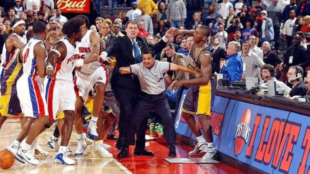 03 Pacers Pistons Brawl