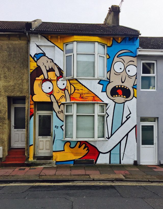 02 Rick & Morty Graffiti