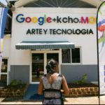Quirenia Montejo leads a tour through the Google technology center set up at the Museo Org·nico de Romerillo. The museum and art studio was started by artist Alexis Leiva Machado, known as Kcho.   Thursday June 23, 2016.