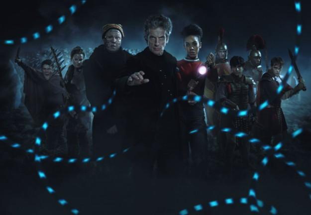 WARNING: Embargoed for publication until 00:00:01 on 11/06/2017 - Programme Name: Doctor Who S10 - TX: 17/06/2017 - Episode: The Eaters of Light (No. 10) - Picture Shows: ***EMBARGOED UNTIL 00:01hrs 11th JUNE 2017*** Ban (DANIEL KERR), Kar (REBECCA BENSON), Nardole (MATT LUCAS), The Doctor (PETER CAPALDI), Bill (PEARL MACKIE), Thracius (BEN HUNTER), Marcus (AARON PHAGURA), Vitus (SAM ADEWUNMI), Lucius (BRIAN VERNEL) - (C) BBC/BBC Worldwide - Photographer: Simon Ridgway