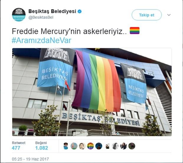 Beşiktaş Belediyesi TWeet