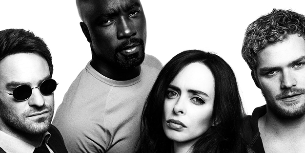 Charlie-Cox-Mike-Colter-Krysten-Ritter-Finn-Jones-The-Defenders