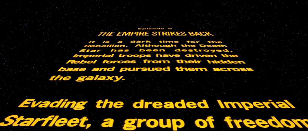 Star WArs Opening Crawl
