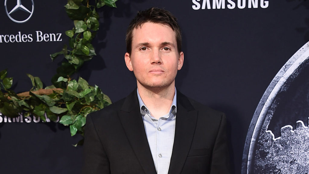 "Writer Derek Connolly arrives at the Los Angeles premiere of ""Jurassic World"" at the Dolby Theatre on Tuesday, June 9, 2015. (Photo by Jordan Strauss/Invision/AP)"