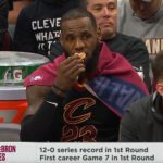 LeBron Eats an Orange Pacers