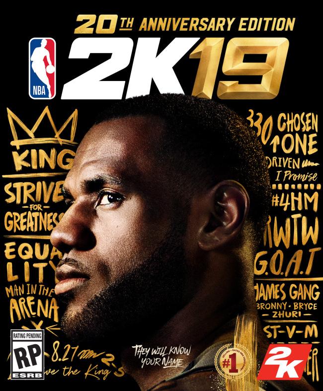 LeBron NBA 2K19 Poster
