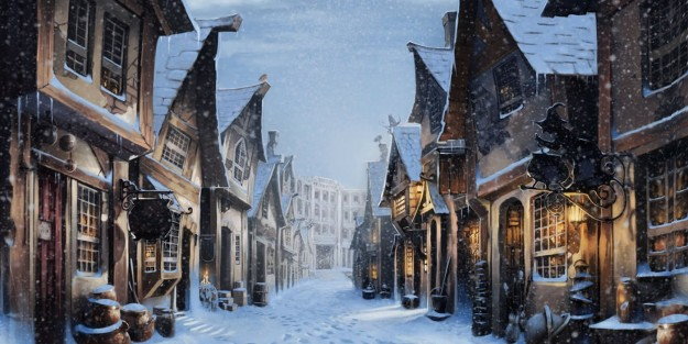 Harry-Potter-Hogsmeade-Snowy-High-Street
