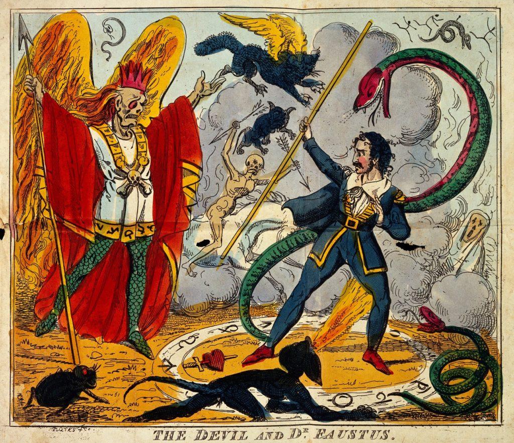 L0031469 The Devil and Dr. Faustus meet.