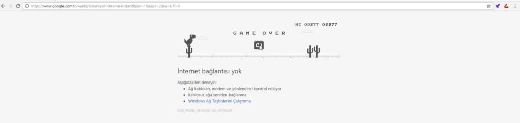 google - dinozor - oyun