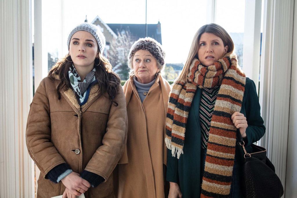 l-r: Aine (Aisling Bea), Eileen (Sorcha Cusack), Shona (Sharon Horgan)
