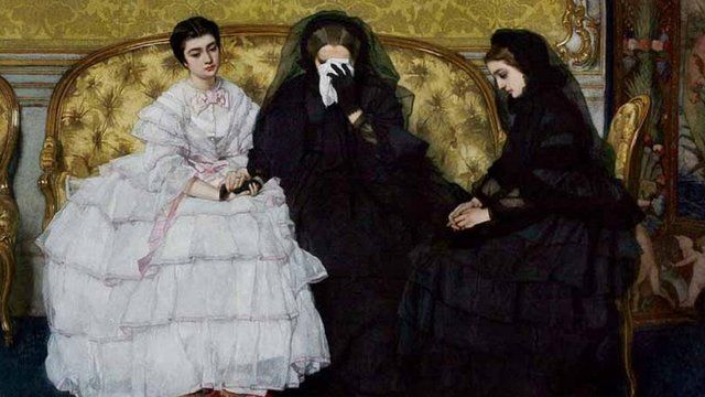 alfred stevens - victorian mourning