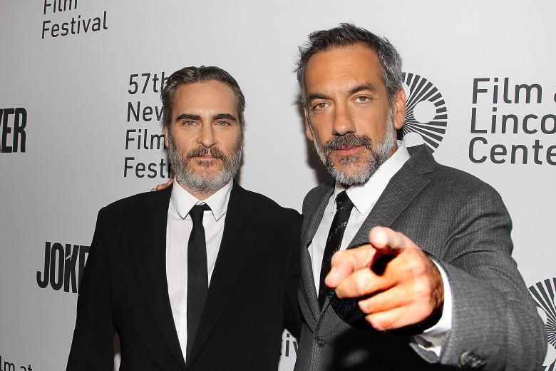 "Mandatory Credit: Photo by Dave Allocca/StarPix/Shutterstock (10434658ag) Joaquin Phoenix and Todd Phillips NYFF57 New York Premiere of ""Joker"", New York, USA - 02 Oct 2019"