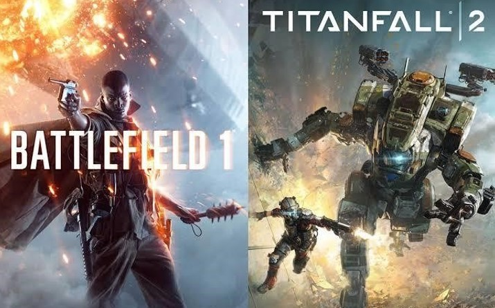 battlefield 1-  titanfall 2