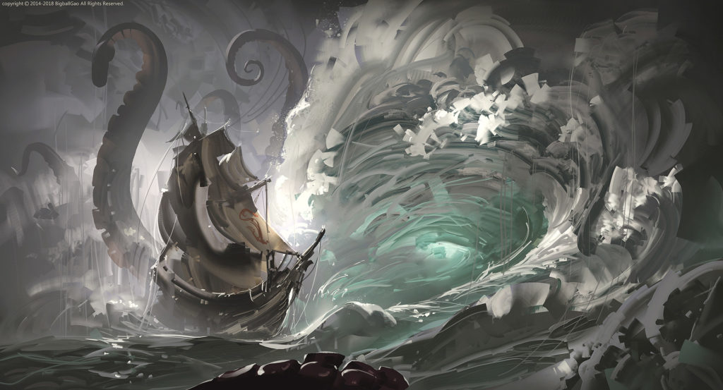 digital-art-artwork-Kraken-sea-ship-waves-1310145-wallhere.com